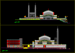 دانلود نقشه اتوکد معماری مسجد تایید شده شهرداری